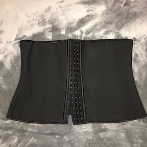 de626698cd430 New 9 Steel Boned Black Latex Waist Trainer 3XL